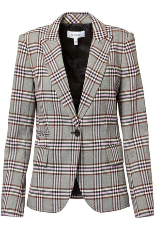 Derek Lam 10 Crosby, Plaid Twill Blazer