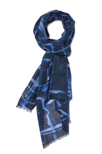 Painterly Windowpane Scarf