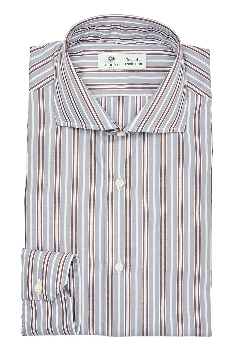 Luigi Borrelli, Shadow Stripe Dress Shirt