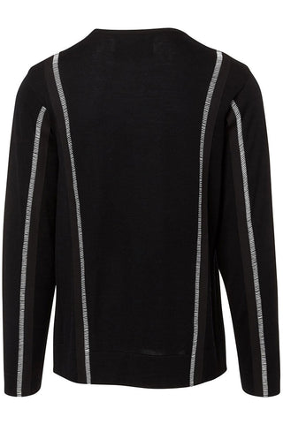 Contrast Seam Sweater
