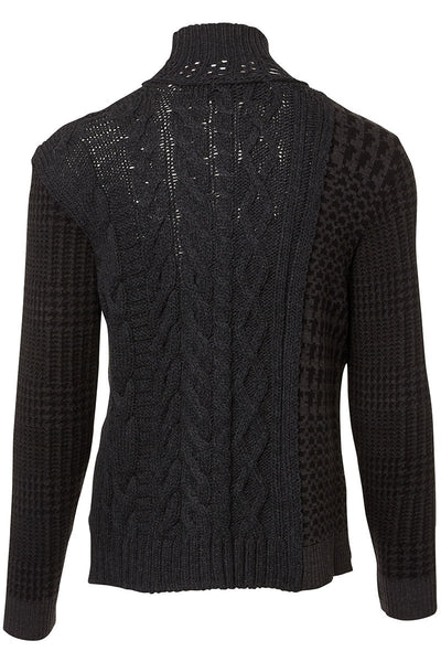 Houndstooth Cableknit Turtleneck