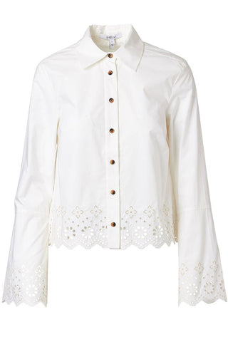 Derek Lam 10 Crosby, Eyelet Detail Button Down