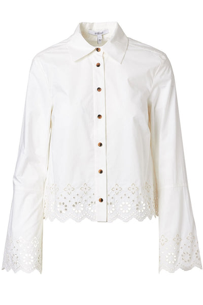Eyelet Detail Button Down