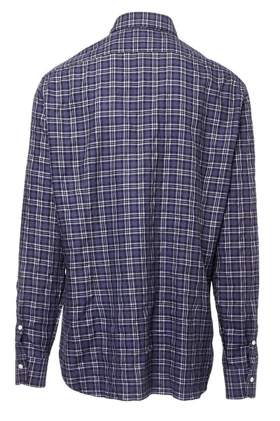 Barba, Blue Check Sportshirt
