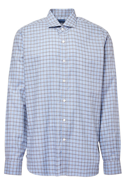 Barba, Small Check Sportshirt
