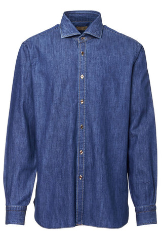 Barba, Denim Sportshirt