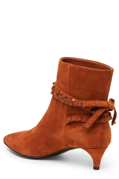 Suede Rockstud Ankle Boot