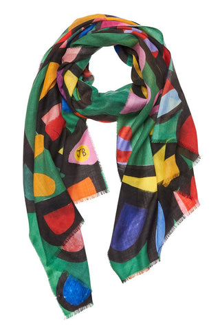 Begg & Co, Wispy Psychedelic Floral Scarf