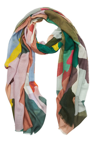 Begg & Co, Wispy Painted Camo Scarf