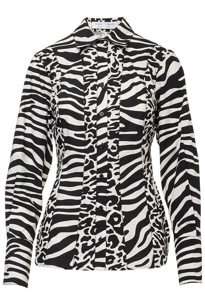 Proenza Schouler White Label, Animal Print Shirt