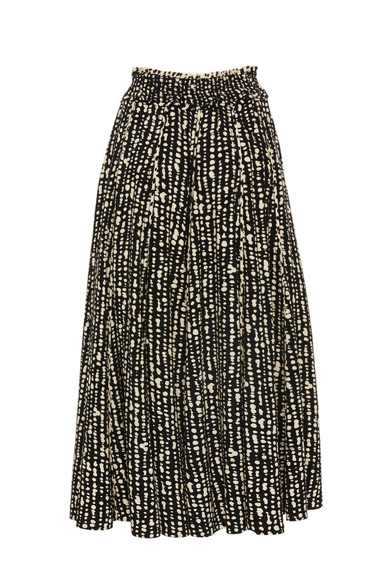 Proenza Schouler White Label, Inky Dot Pleated Skirt