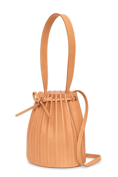 Pleated Bucket Bag