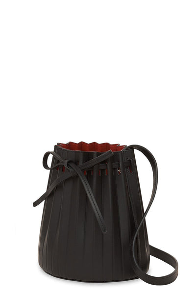 Mini Pleated Bucket Bag