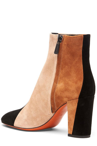 Santoni, Colorblock Heeled Ankle Boots
