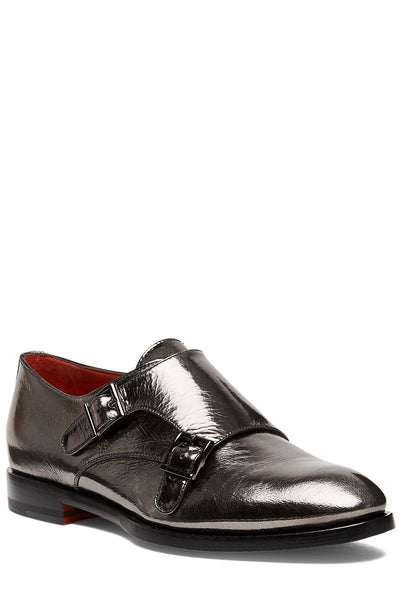 Santoni, Metallic Monkstraps