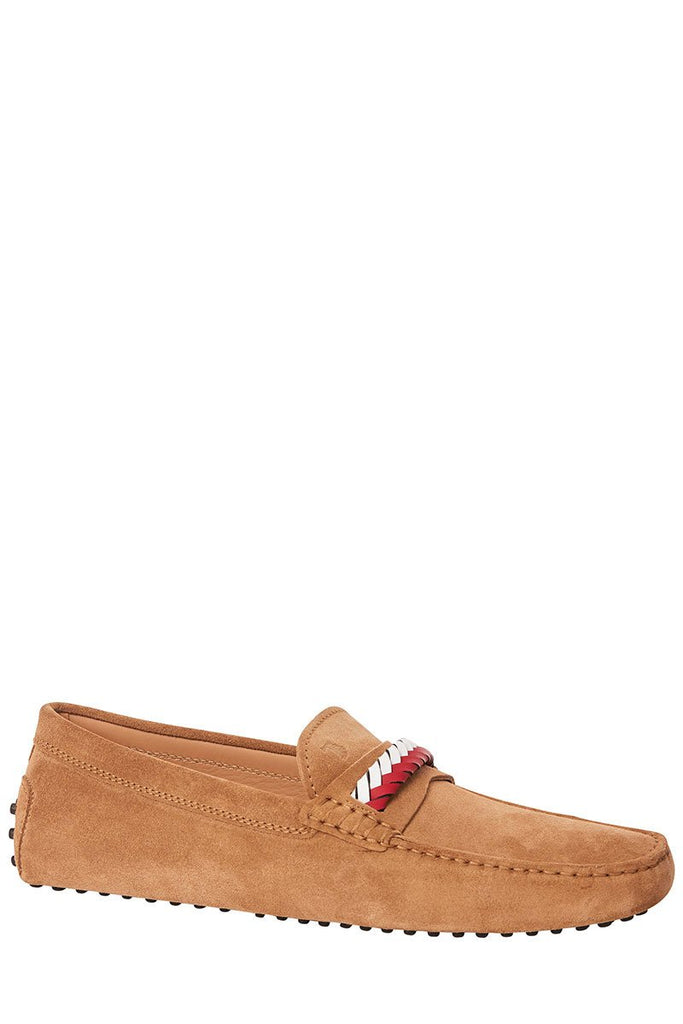 Braid Trimmed Gommino Moccasins