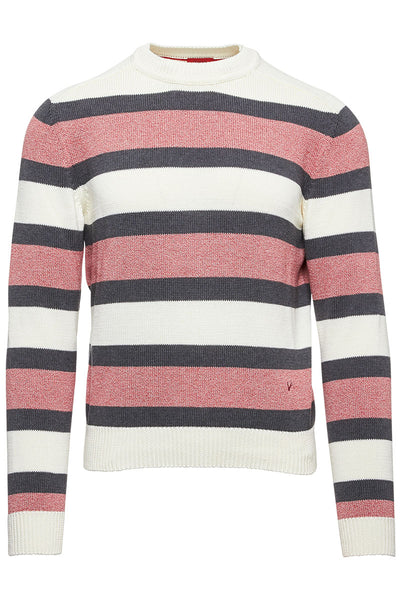 Wide Stripe Crewneck