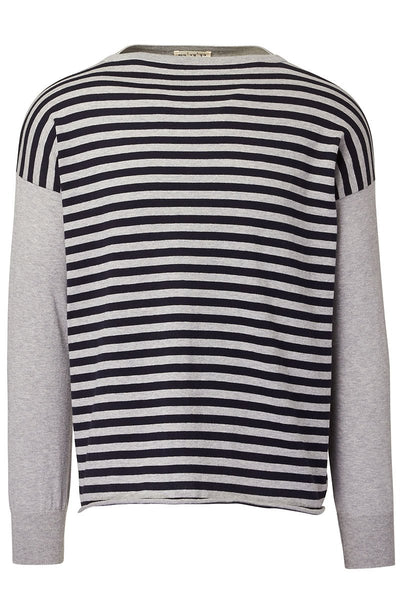 Ma'ry'ya, Striped Boatneck Sweater