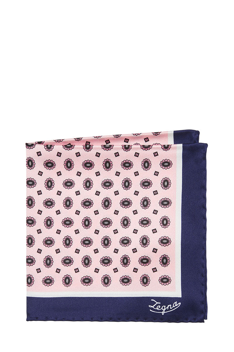 Ermenegildo Zegna, Bordered Blossom Pocket Square