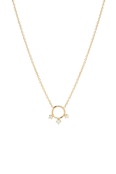 Zoë Chicco, Graduated Prong Circle Necklace