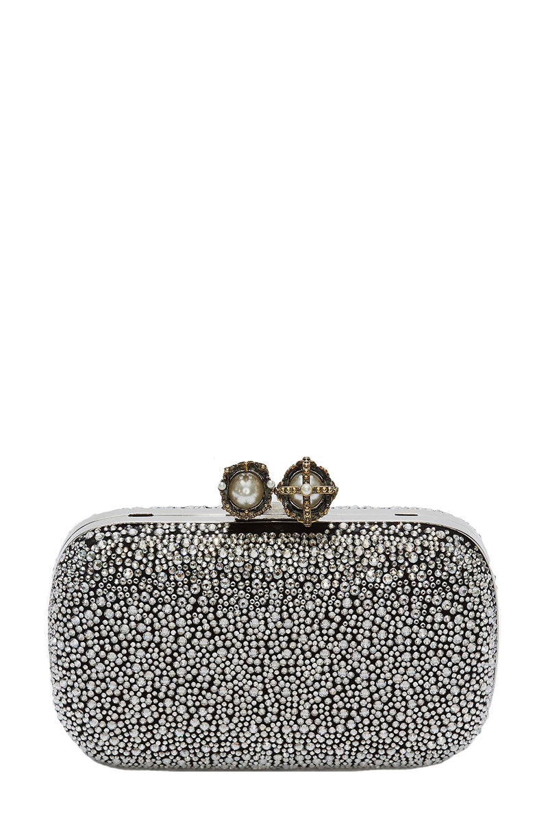 , Queen & King Embellished Clutch