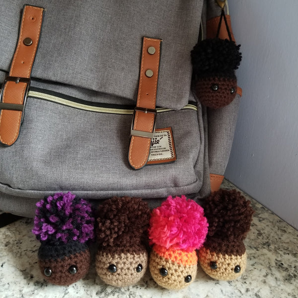 Afro Puff Keychain