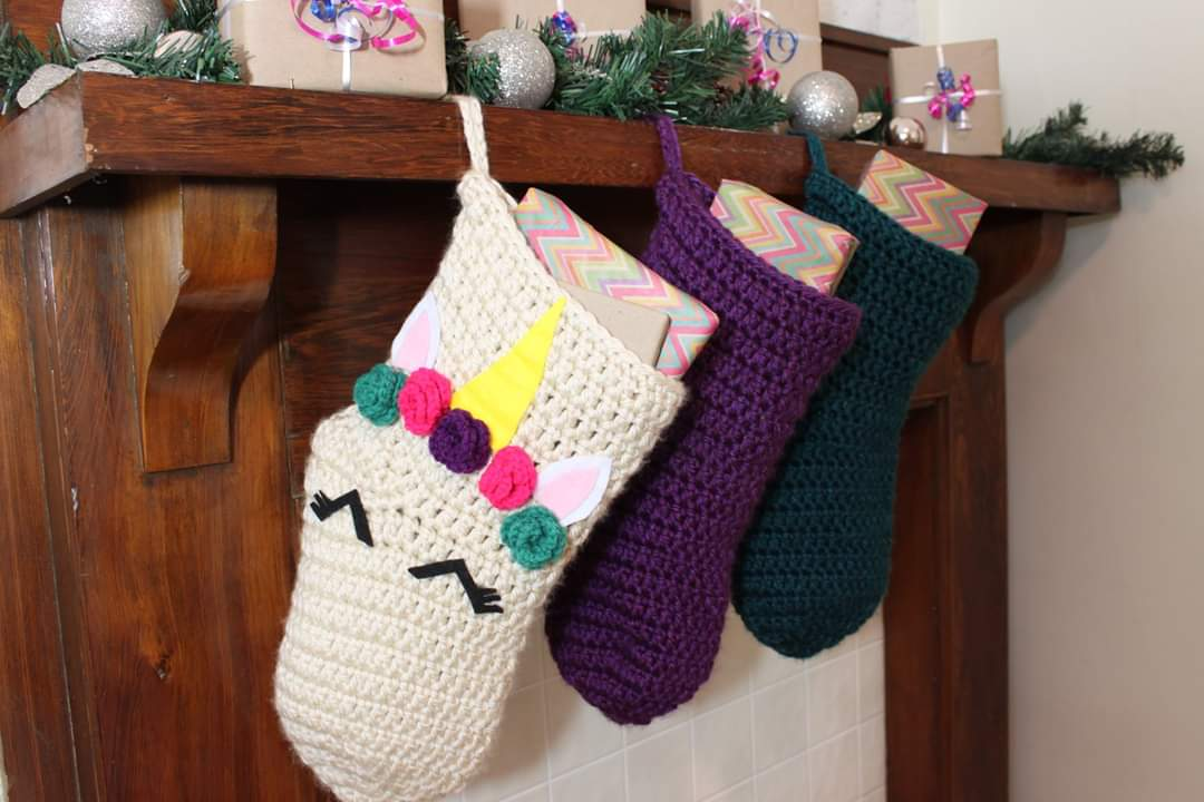 Unicorn Christmas Stocking -- Ready to Ship