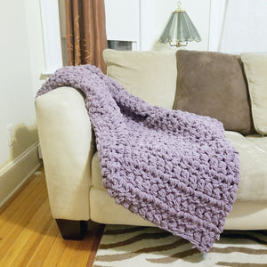 Chunky Blanket Throw --Ready to Ship