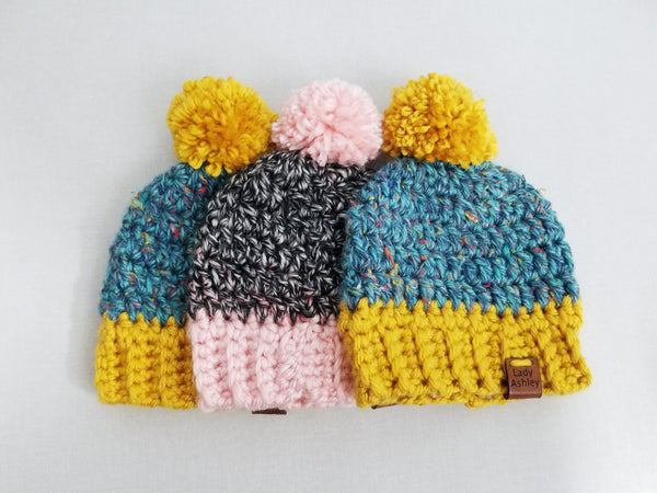 Pompom Beanie -- Ready to Ship