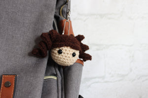Curly Girl Keychain