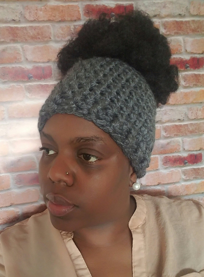 Messy Bun Hat --Ready to SHip
