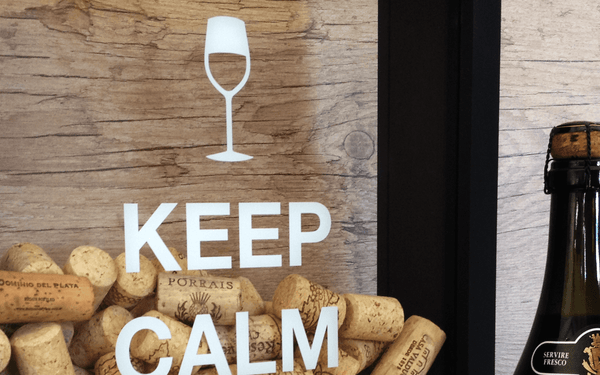 Porta Rolhas - Keep Calm and Drink Wine