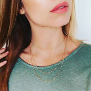 Double Layer Vermeil Necklace
