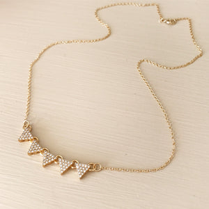 5 Triangle Sparkle Necklace
