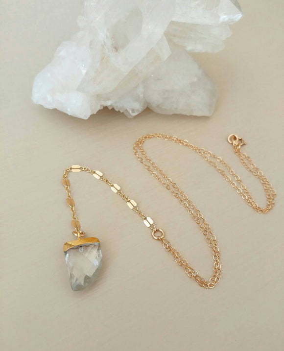 LAST ONE! Crystal Quartz Lariat