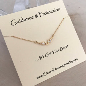 """GUIDANCE and PROTECTION"" Angel Wing Neckalce"