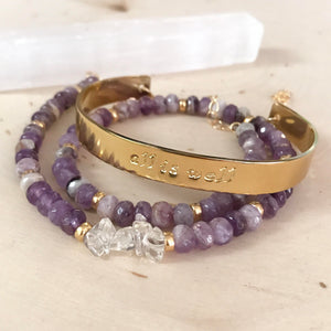 """All is Well"" Amethyst Cuff"