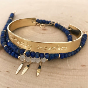 """Perfectly Imperfect"" Blue Lapis Cuff"