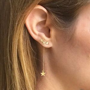 Best Seller!! Celestial Stars Earclimber - 3 in 1 design