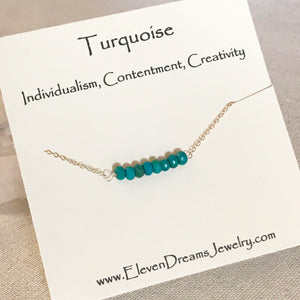 CONTENTMENT + CREATIVITY Turquoise Neckalce