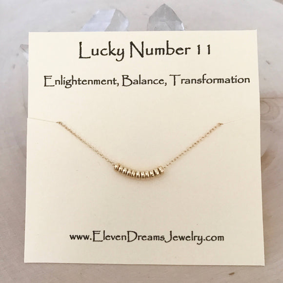Lucky Number 11 Necklace