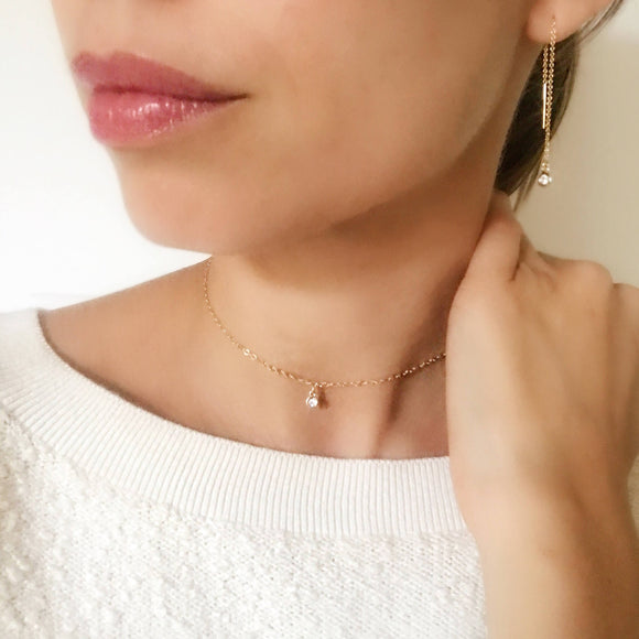 Dainty Solitaire Choker