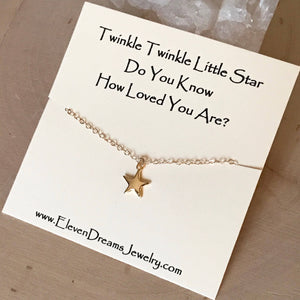 """Twinkle Twinkle"" Star Necklace"