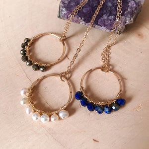 Gemstone Circles Necklace