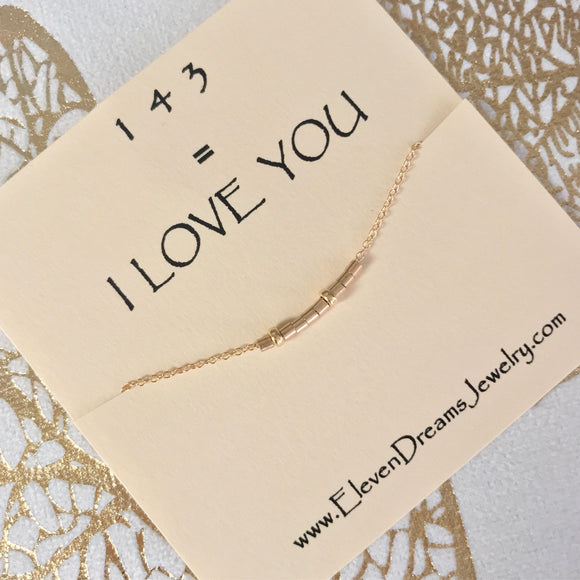143 = I Love You Necklace