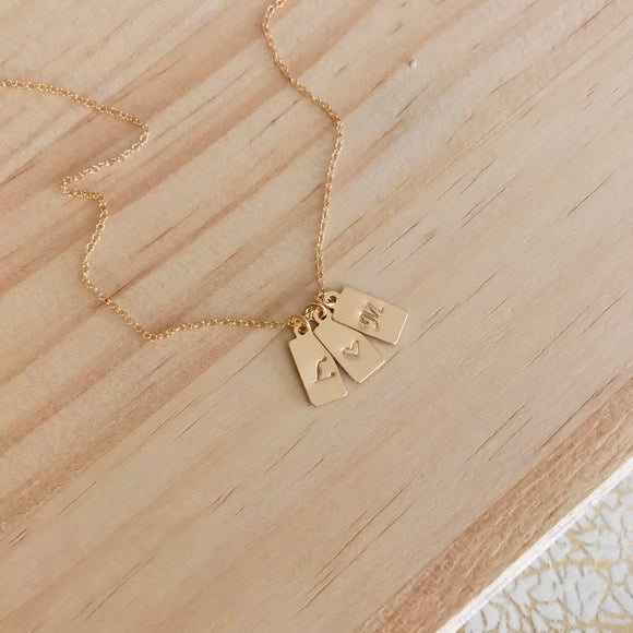 Goldie INITIAL Necklace
