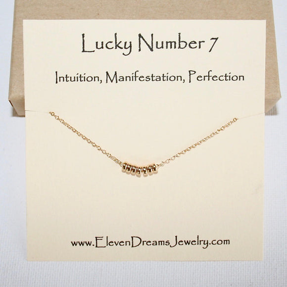 Lucky Number 7 Necklace