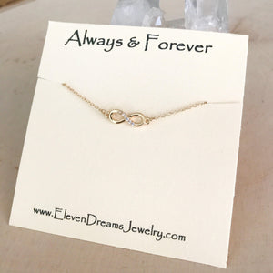 """Always & Forever"" Infinity Necklace"