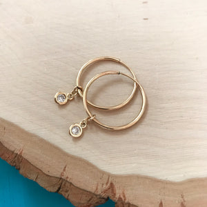 Sophia Sparkle Hoops - Medium
