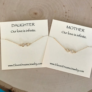 MOTHER / DAUGHTER Infinity Necklace Set